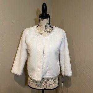 Women's dress jacket light cream color, soft